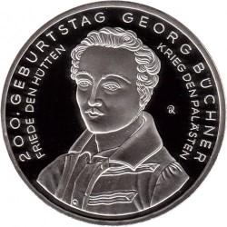 Moeda > 10euro, 2013 - Alemanha  (Bicentenário do Nascimento do Escritor Georg Büchner) - reverse