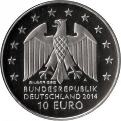 Moeda > 10euro, 2014 - Alemanha  (250 Anos do Nascimento do Escultor Johann Gottfried Schadow) - obverse
