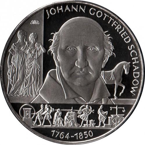 10 Euro 2014 Johann Gottfried Schadow Deutschland Münzen Wert