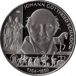 Moeda > 10euro, 2014 - Alemanha  (250 Anos do Nascimento do Escultor Johann Gottfried Schadow) - reverse