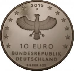 Moeda > 10euro, 2015 - Alemanha  (1000 Anos da Fundação da Cidade de Leipzig) - obverse