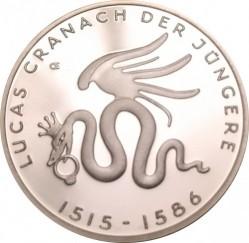 Moeda > 10euro, 2015 - Alemanha  (500 Anos do Nascimento de Lucas Cranach, o Jovem) - reverse