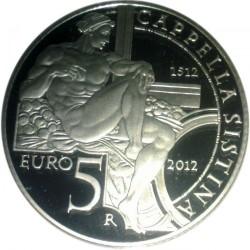 سکه > 5یورو, 2012 - ایتالیا  (500th Anniversary - Sistine Chapel) - reverse