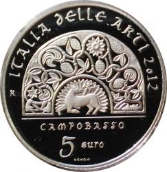 سکه > 5یورو, 2012 - ایتالیا  (Italy of Arts - Campobasso) - reverse
