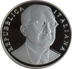 Coin > 10euro, 2011 - Italy  (130th Anniversary - Birth of Alcide De Gasperi) - obverse