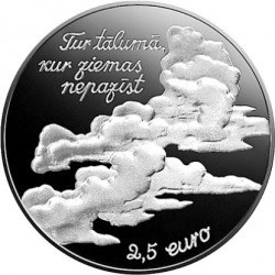 Coin > 2½euro, 2017 - Latvia  (150th Anniversary - Birth of Eduards Veidenbaums /Veidenbaums/) - obverse