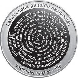 Coin > 5euro, 2017 - Latvia  (100th Anniversary - Latvian Provisional National Council) - reverse