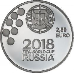 Moneda > 2½euros, 2018 - Portugal  (Copa Mundial de Fútbol de Rusia 2018) - reverse