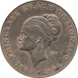 Moneda > 10francos, 1982 - Mónaco  (Muerte de la Princesa Grace) - reverse