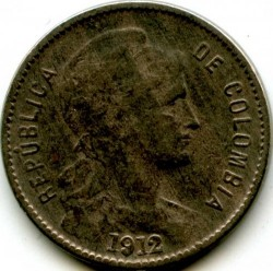 Монета > 1песо(papelmoneda), 1907-1916 - Колумбия  - obverse