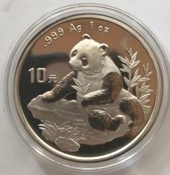Νόμισμα > 10Γουάν, 1998 - Κίνα  (Panda /the claws on the hind legs are visible/) - reverse