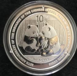 Moneta > 10yuan, 2009 - Cina  (30° anniversario - Emissione delle monete moderne della Cina con  metalli preziosi. Panda) - reverse