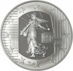 Moneda > 10euros, 2009 - Francia  (50 aniversario - Tribunal de los Derechos Humanos) - obverse