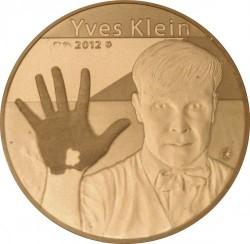 Moneda > 50euros, 2012 - Francia  (50 aniversario - Muerte de Yves Klein) - reverse