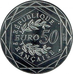 Coin > 50 euro, 2017 - France  (Bastille Day) - reverse