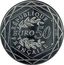 Монета > 50евро, 2017 - Франция  (Петух) - obverse