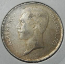 """Münze > 2Franken, 1910-1912 - Belgien  (Legende in französisch - """"ALBERT ROI DES BELGES"""") - obverse"""