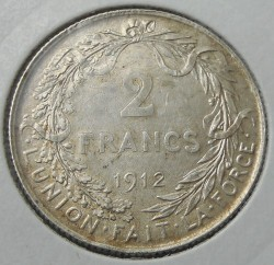 "Münze > 2Franken, 1910-1912 - Belgien  (Legende in französisch - ""ALBERT ROI DES BELGES"") - reverse"
