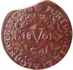 Монета > 5рейса, 1800 - Португалия  - reverse