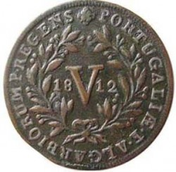 Монета > 5рейса, 1812-1814 - Португалия  - reverse