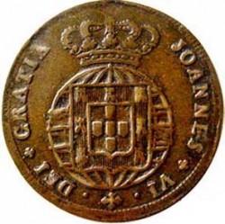 Монета > 5рейса, 1818-1824 - Португалия  - obverse
