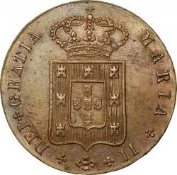 Монета > 10рейса, 1835-1837 - Португалия  - obverse