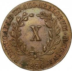 Монета > 10рейса, 1835-1837 - Португалия  - reverse