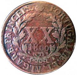 Монета > 20рейса, 1800 - Португалия  (Диаметър 37мм) - reverse