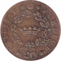 Mynt > 20reis, 1833 - Portugal  - reverse