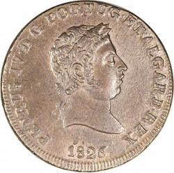 Монета > 40рейса, 1826-1828 - Португалия  - obverse