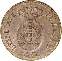 Монета > 40рейса, 1826-1828 - Португалия  - reverse