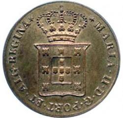 Монета > 40рейса, 1833 - Португалия  (MARIA II DEI GRATIA. Corners at the arms) - obverse