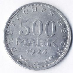 Coin > 500 mark, 1923 - Germany  - reverse
