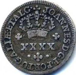 "Монета > 50рейса, 1799 - Португалия  (Lettering ""JOANNES D G P PORTUGALAE ET ALG"") - obverse"