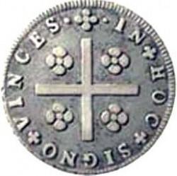 Νόμισμα > 80Ρέις, 1828 - Πορτογαλία  (Points near the flower on the obverse) - reverse
