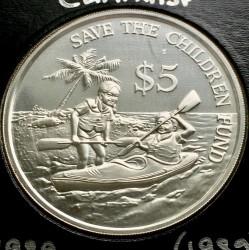 Moneta > 5dollari, 1989 - Singapore  (UNICEF) - reverse