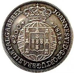 Монета > 200рейса, 1818-1822 - Португалия  - obverse