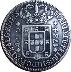Монета > 400рейса, 1784-1785 - Португалия  - obverse
