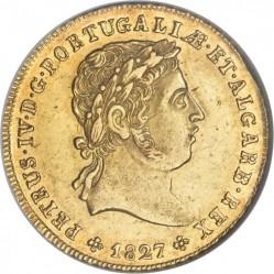 Mynt > ½peca, 1827 - Portugal  - obverse