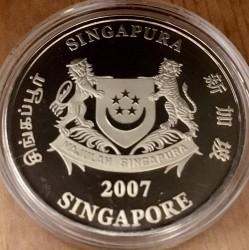 Moneta > 2dolary, 2007 - Singapur  (Chiński zodiak - Rok świni) - obverse