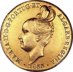 Монета > 1пека, 1833 - Португалия  - obverse