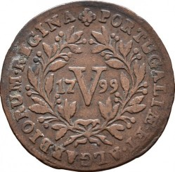 Монета > 5рейса, 1791-1799 - Португалия  - reverse