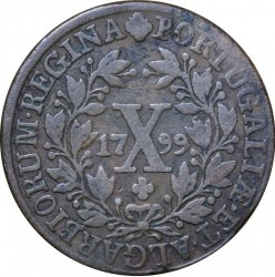 Монета > 10рейса, 1797-1799 - Португалия  - reverse
