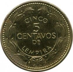 Кованица > 5центи, 2014 - Хондурас  - reverse