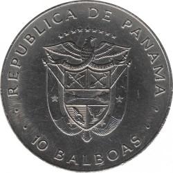 Monēta > 10balboa, 1978 - Panama  (Ratification of the Panama Canal Treaty) - obverse