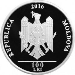 Moneta > 100lei, 2016 - Moldavia  (25° anniversario - Indipendenza) - obverse