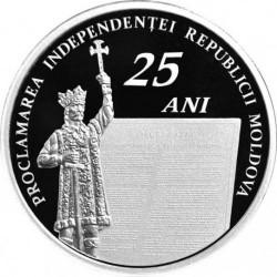 Moneta > 100lei, 2016 - Moldavia  (25° anniversario - Indipendenza) - reverse