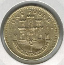 Coin > 1pound, 1998-2002 - Gibraltar  - reverse