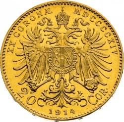 سکه > 20کرونا, 1909-1915 - اتریش   - reverse