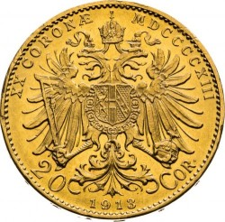 سکه > 20کرونا, 1913 - اتریش   - reverse